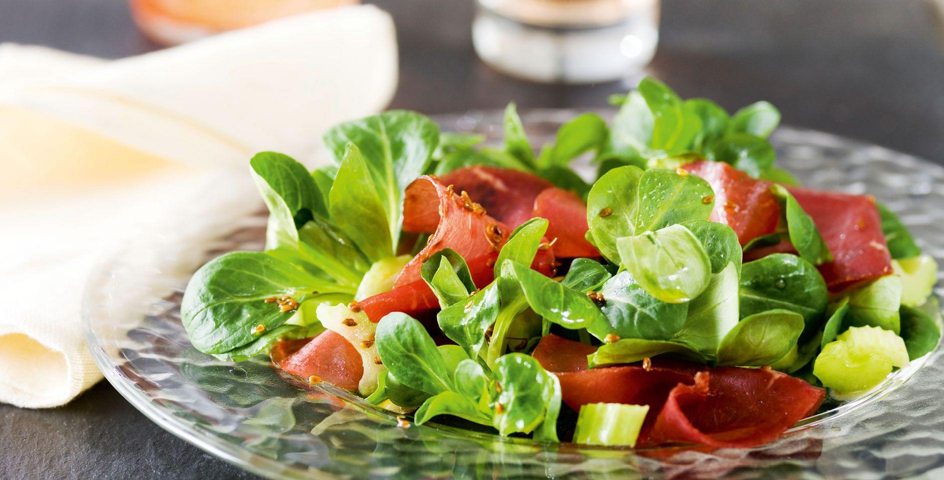 Living At Home Rezepte parfümierter mostbröckli salat drinks und rezepte